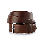Men's leather belt in dark brown