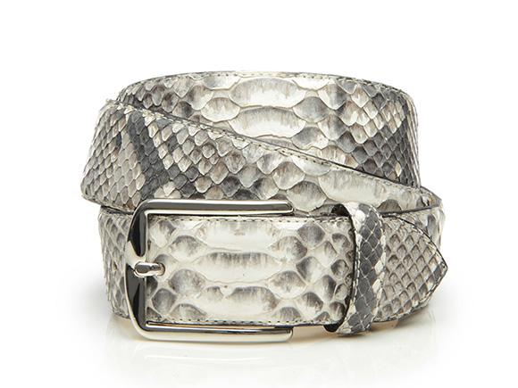 SHOEPASSION.com – Ceinture python en blanc pour homme ef97ced5c8c