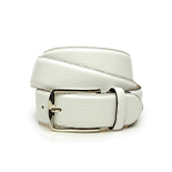 Men's deerskin belt in white