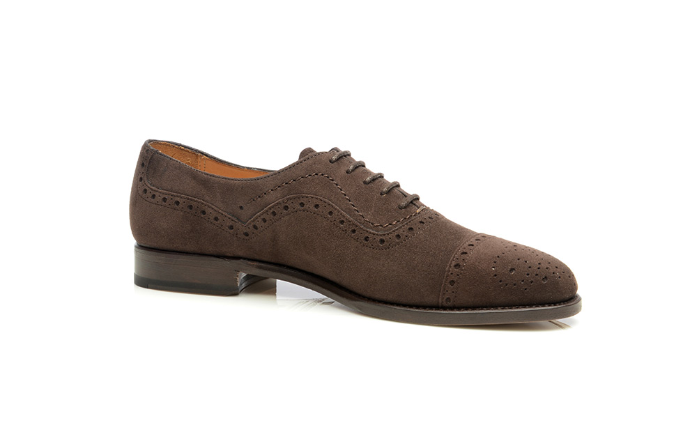 SHOEPASSION.com – szyte ramowo zamszowe buty damskie Oxford w ... 222a5eff62