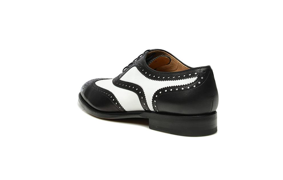 Model No. 380 szyte ramowo, biało czarne buty Spectator