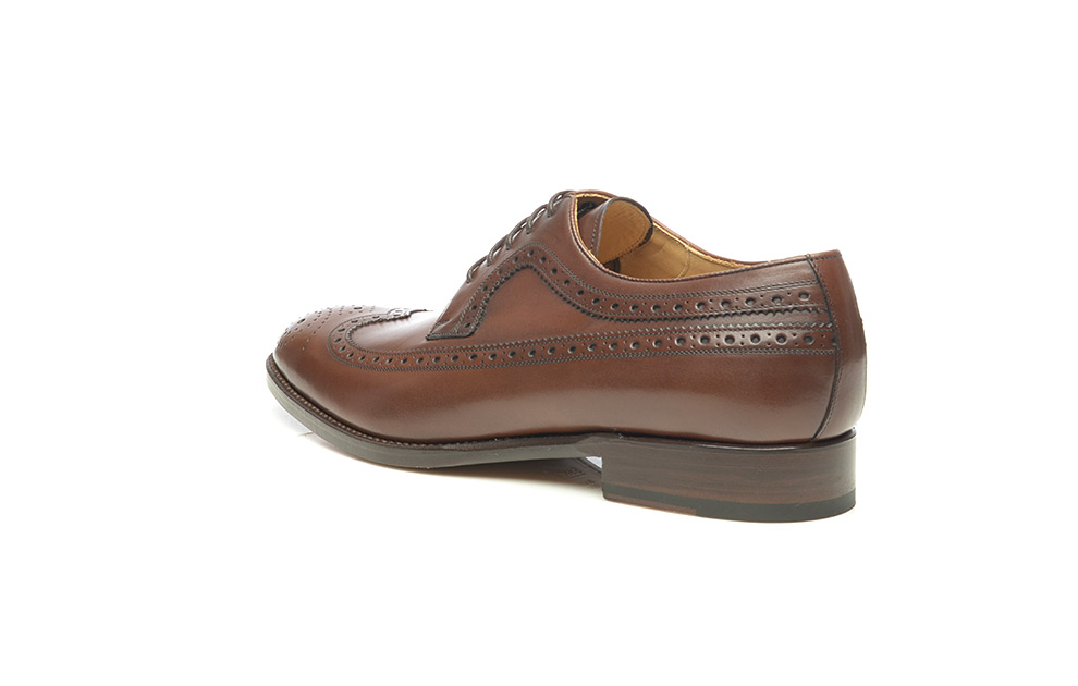 29f8ae2910366 SHOEPASSION.com – Goodyear-welted longwing Derby in dark brown